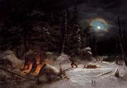 Indian Hunters Camp, Moonlight